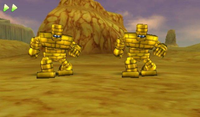 Da sie vollkommen aus Gold sind, wundert es nicht, dass Goldgolems die perfekte Geldquelle darstellen.