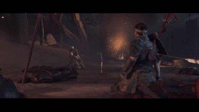 Eine verheerende Niederlage: Die meisten Samurai sind tot, Jin ist schwer verwundet und sein Onkel gefangen genommen.
