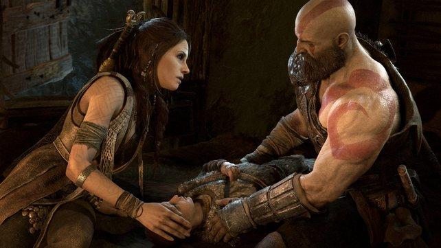 Immer noch stark, aber viel gebrechlicher ist Kratos in God of War.