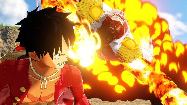 Sakazuki: Der Boss, gegen den ich in der Demo kämpfte. Leider kein besonders abwechslungsreicher Kampf.