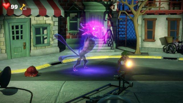 Der violette Schimmer gibt euch das Signal. Jetzt ist es Zeit für einen Stroboblitz.
