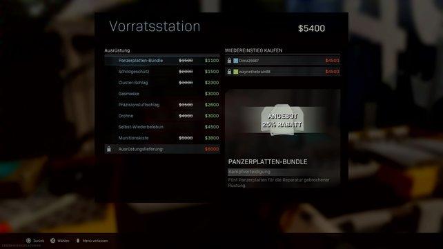 An der Vorratsstation kann man in CoD: Warzone für 6.000 Dollar seine gewünschte Ausrüstung ordern.