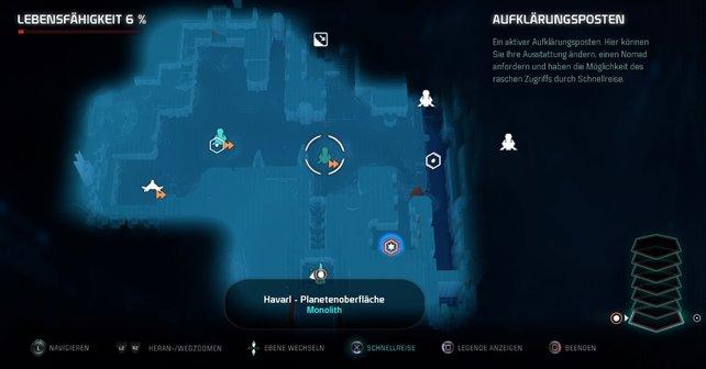 Aufklärungsposten sind eine Art mobile Zentrale für Pathfinder - nutzt sie!