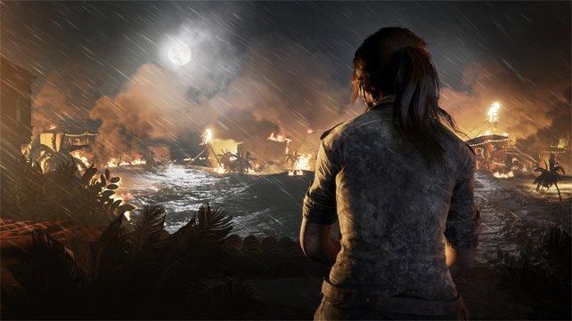 """""""Uppsi, war ich das?"""" - Scheinbar löst Lara aus Versehen die Apokalypse aus."""