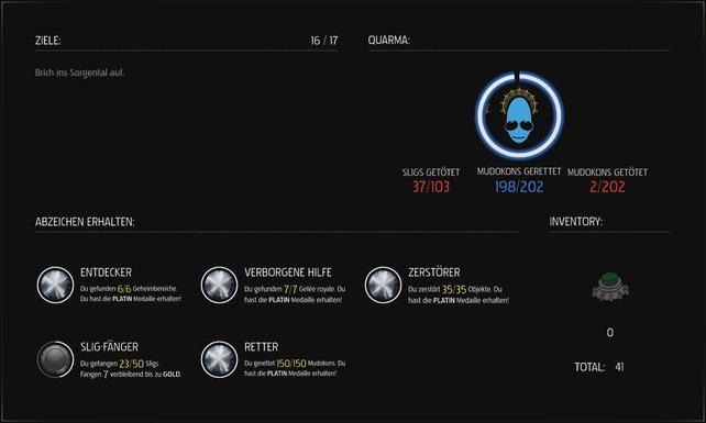 Nach jeder Mission erhaltet ihr einen Quarma-Score, je nachdem wie gutherzig oder fies ihr wart. Dieser hat dann Auswirkungen auf das Ende des Spiels.