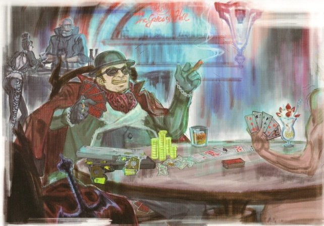 """Enzo spielt gegen einen """"Unbekannten"""" Strip-Poker. Ob es sich um Dante handelt?"""