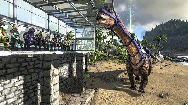 Als ich Bilder wie dieses, von einer Diplodocus-Haltestelle sah, wusste ich, dass ich Ark spielen muss.
