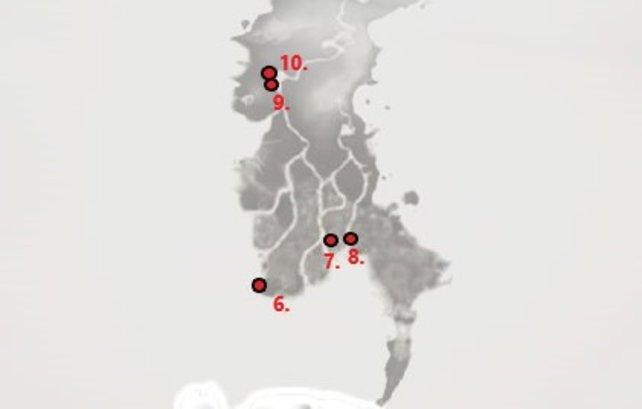 Ghost of Tsushima - Fundorte von 5 versteckten Altären in der Provinz Toyotama.