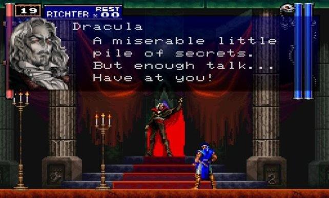 Schwere Worte mit Donnerstimme vorgetragen: Graf Dracula steht nun mal auf Pomp.