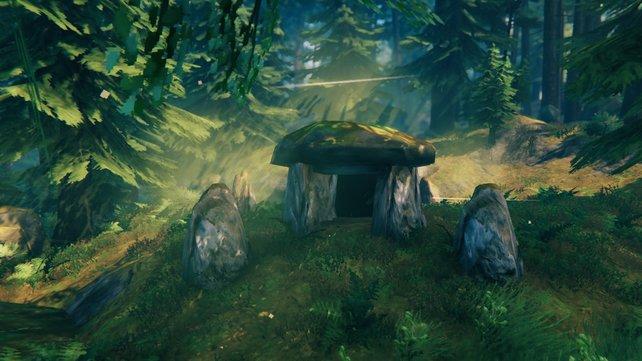 Der Eingang eines Dungeons in Valheim