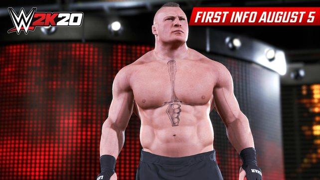 Brock Lesnar auf dem Weg zum Ring.