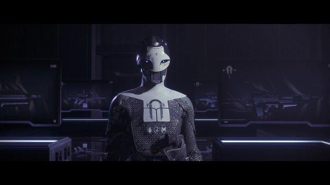 Ada-1 heißt euch in der Schwarzen Waffenkammer willkommen. Ihr erster Auftrag ist schnell erledigt.