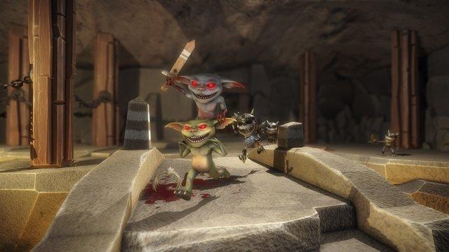 Und Action! Kleine, nackte Goblins in Aktion durften unter anderem Besucher der gamescom erleben.