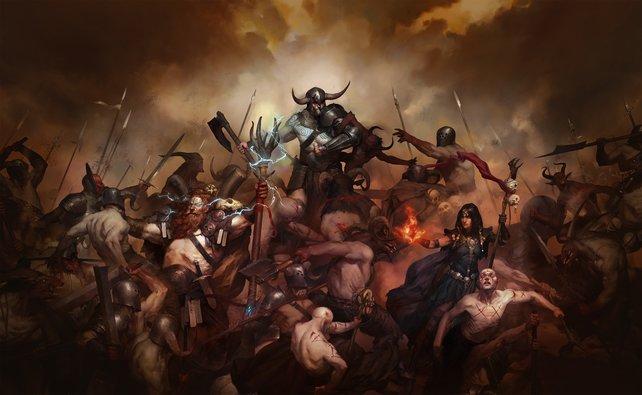 Diablo 4 ist in Entwicklung: Von Anfang an sind die Klassen Barbar, Zauberer und Druide dabei.