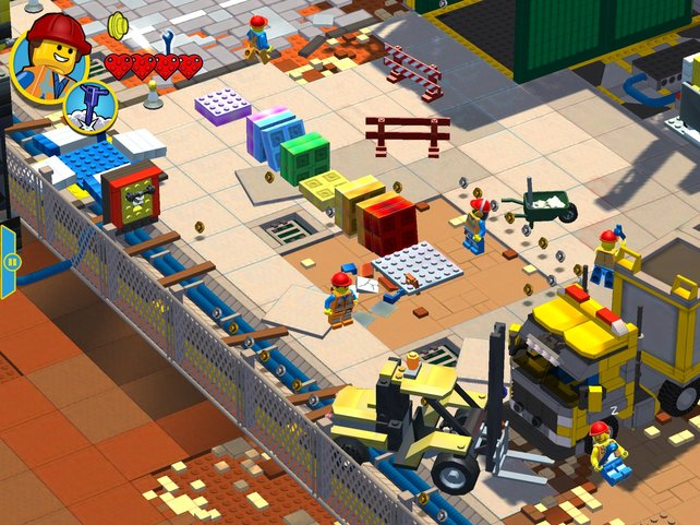 Mit Held Emmet sammelt, zerstört und baut ihr Legokonstrukte, um voranzukommen.