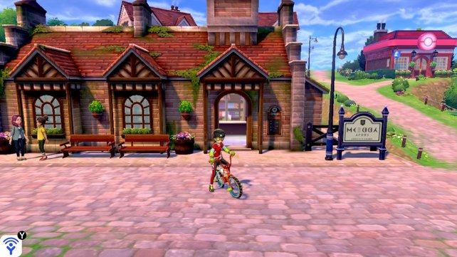 Der Bahnhof in Brassbury befindet sich quasi diagonal vor dem Pokémon-Center.