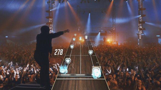 Echte Band und ein echtes Publikum: Guitar Hero Live bringt euch auf die Bühne.