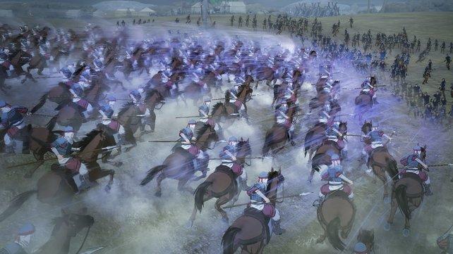 Arslan bietet viele Massenschlachten.