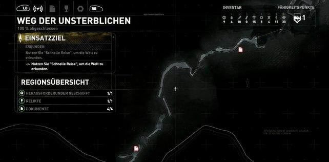 Karte: Weg der Unsterblichen (1/2).