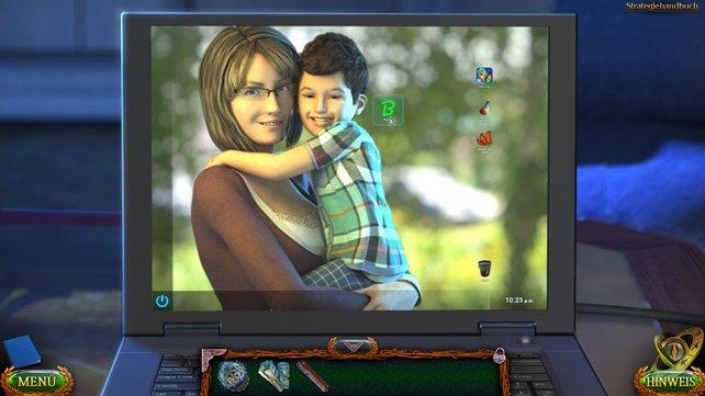 Klickt auf das grüne Boogie Icon und öffnet somit die Suchmaschine, damit Susan mehr in Erfahrung bringen kann.