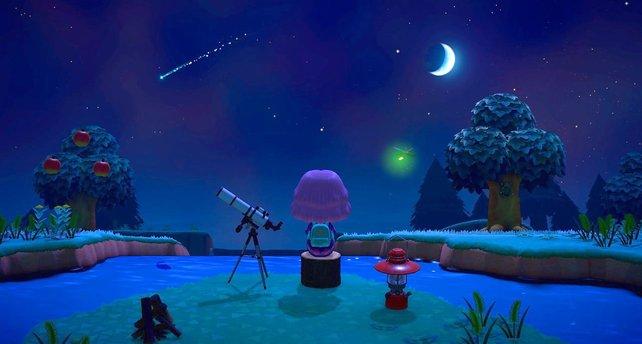 Tinder-User schauen sich den Sternenhimmel in Animal Crossing nicht mehr alleine an.