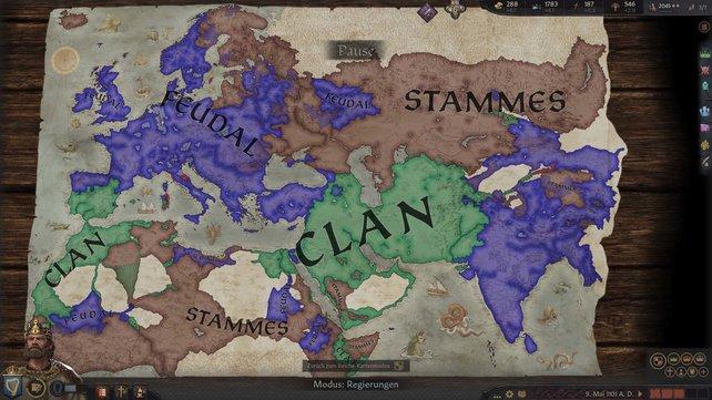 Die Regierungsform nimmt Einfluss auf die Möglichkeiten der Steuererhöhung in Crusader Kings 3.