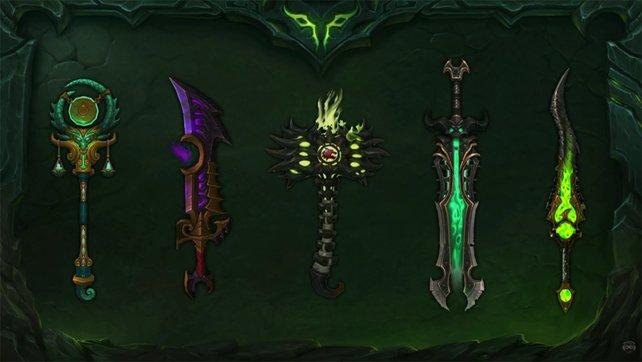 Das sind ein paar der schicken Artefakt-Waffen. Schnuckelig, oder?