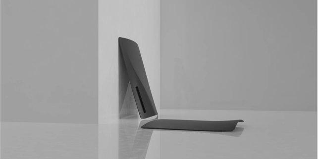 Die schwarzen Gehäuseplatten der PS5 sehen schick und edel aus. (Bildquelle: The Plate Station).