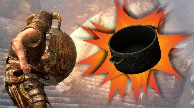 Ein Skyrim-Spieler findet endlich einen würdigen Gegner.