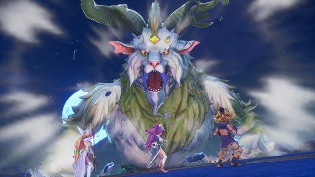 Einige Bosskämpfe in Trials of Mana sind nicht auf die leichte Schulter zu nehmen.