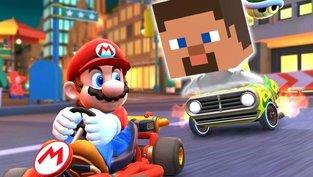 Minecraft in Mario Kart?