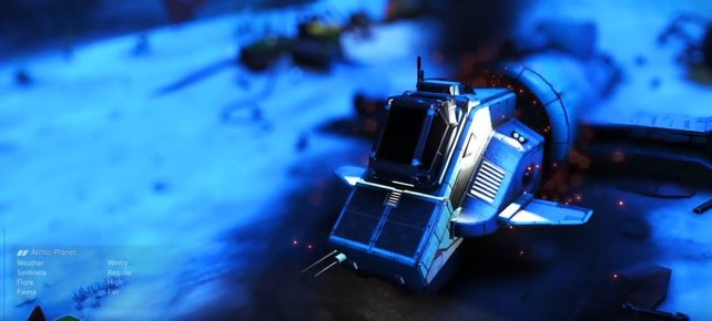 Haltet die Augen nach abgestürzen Schiffen offen, um ein besseres Raumschiff zu erhalten.