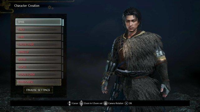 Nioh 2 bietet eine umfangreiche Charaktererstellung.