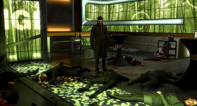 Ihr kommt zu spät und findet nur noch die Leichen der Delegierten.