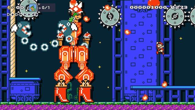 Solche absurden Mario-Level macht nur der Super Mario Maker möglich.