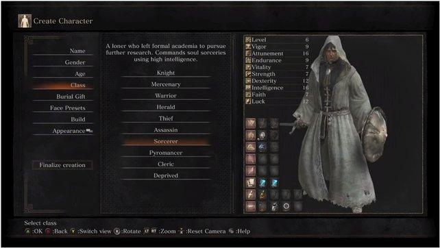 Der Merlin des Souls-Universums: Der Zauberer spezialisiert sich auf Magie und Zaubersprüche.