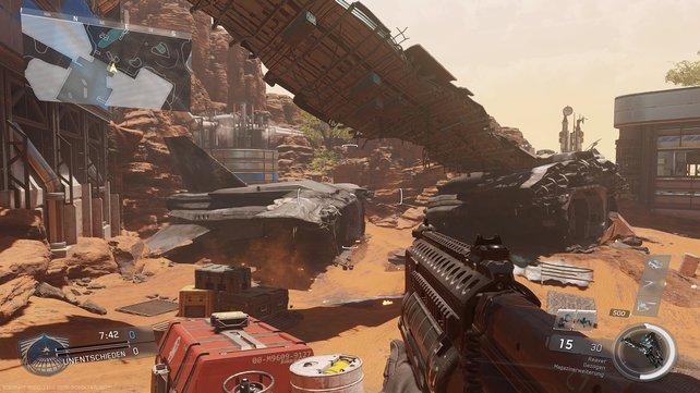 """Beim neu aufgelegten """"Dominion"""" liefert ihr euch heiße Gefechte rund um ein abgestürztes Raumschiff."""