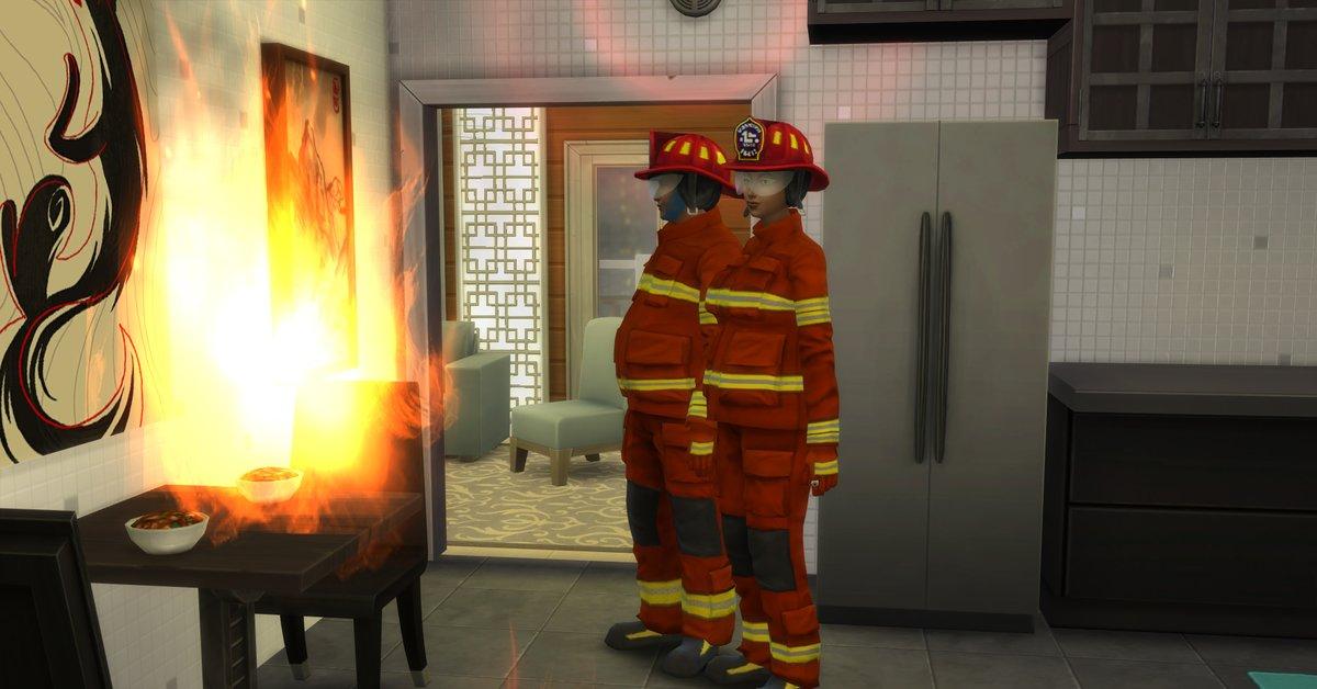 Die Sims 4: Warum ihr niemals die Feuerwehr rufen solltet
