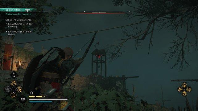 Beim Angriff auf die Festung müsst ihr zwei Anführer töten. Um möglichst heimlich vorzugehen, solltet ihr die Alarmglocke zerstören.
