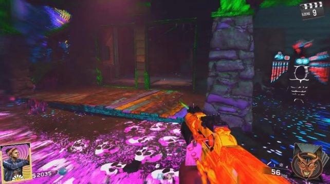 In der Hütte neben diesem leuchtendem Totem findet ihr den zweiten Elchkopf.