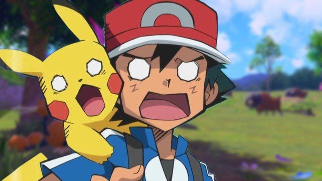 Jetzt haben wir den Videobeweis! Auch in der Welt der Pokémon gilt: Fressen oder gefressen werden. (Bild: The Pokémon Company)