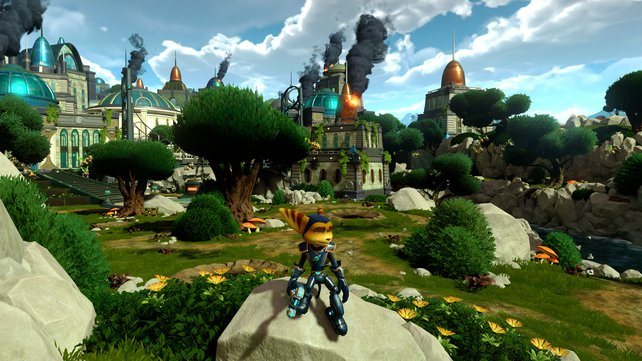 Ratchet & Clank besticht mit detailverliebter Comic-Umgebung.