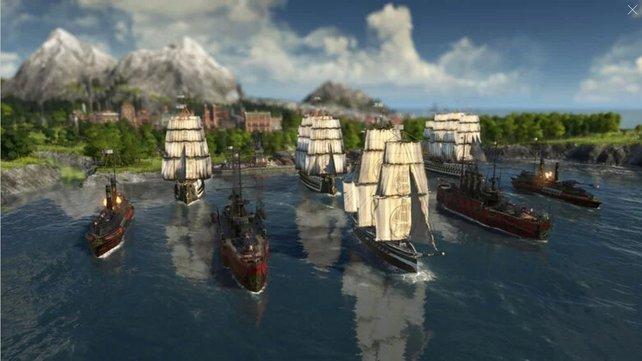Jeweils ein Schiff kann von euch in Anno 1800 auf Expedition geschickt werden.