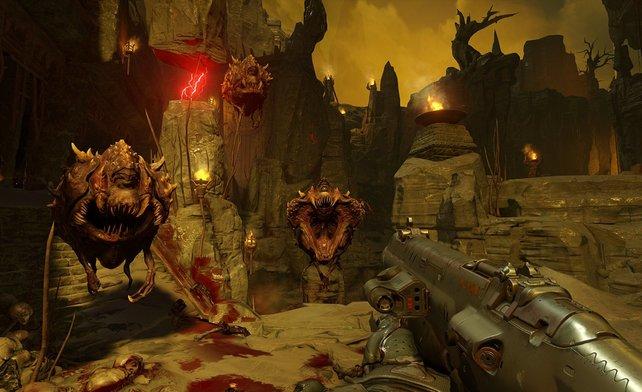 In Doom schaltet ihr eine Reihe blutiger Trophäen und Erfolge frei.