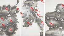 Fundorte aller 16 Shinto-Schreine