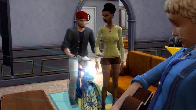 Ihr solltet euch vor Radfahrern in Die Sims 4 in Acht nehmen.