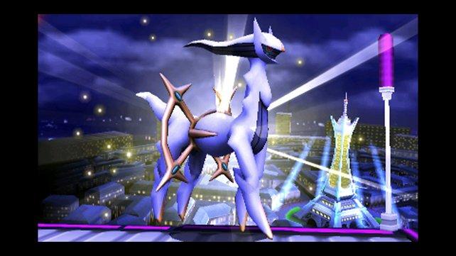 Selbst der Gott der Pokémon, Arceus, ist mit von der Partie.