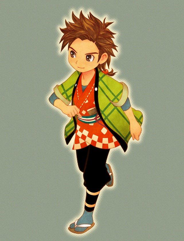 Der junge Händler Hinata lässt sich bei Story of Seasons: Trio of Towns recht einfach erobern.