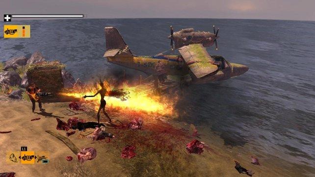 Die Perspektive ähnelt Diablo, doch die Bildschirm-Action ist weit blutiger.
