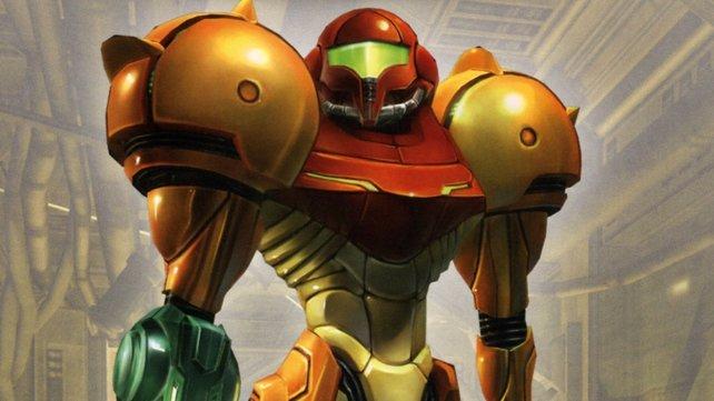 Samus Aran stellt sich den Aliens nicht halbnackt, sondern besitzt eine passende Rüstung.